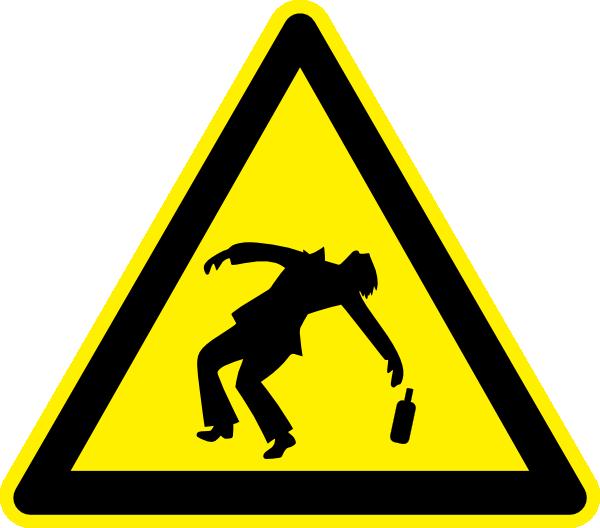 free vector Danger Drunken People Jhelebrant clip art