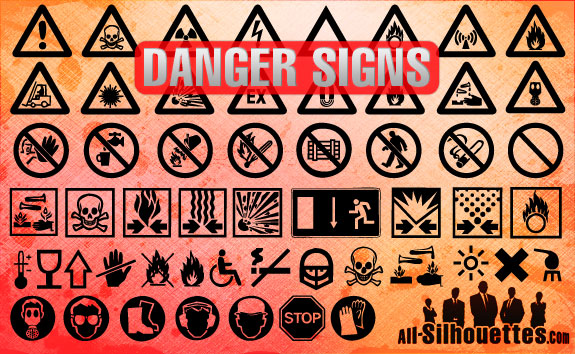 free vector Danger Signs