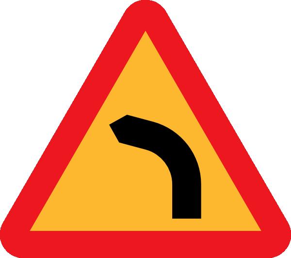 free vector Dangerous Bend Bend To Left clip art
