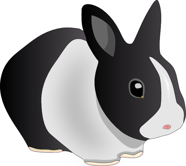 free vector Danko Friendly Rabbit clip art