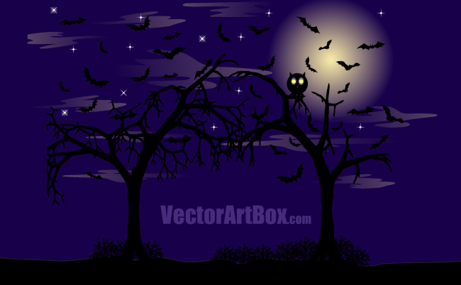 free vector Dark Forest Poster