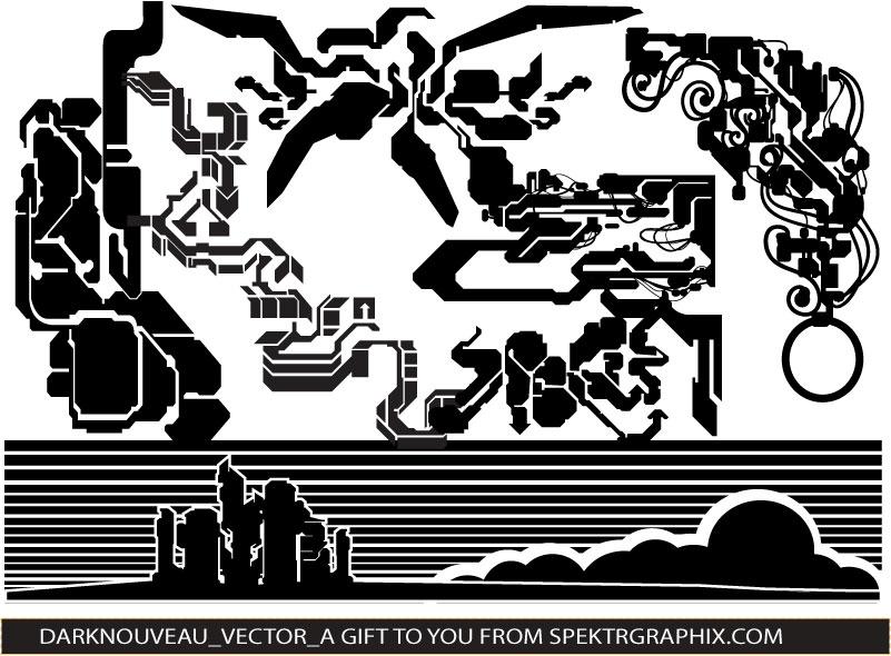 free vector  Dark Noveau Vector