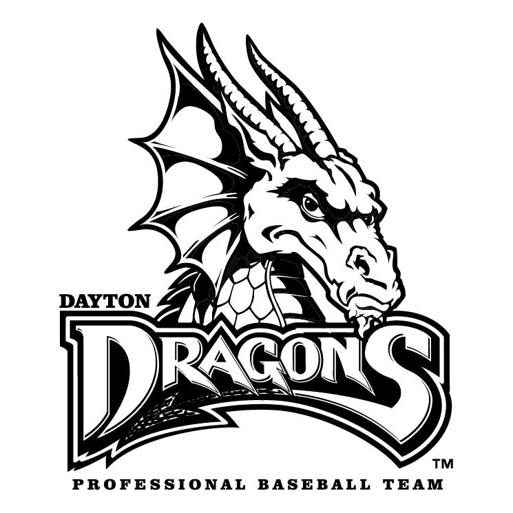 free vector Dayton dragons 0
