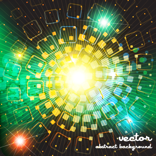 free vector Dazzling bright background stars 01 vector