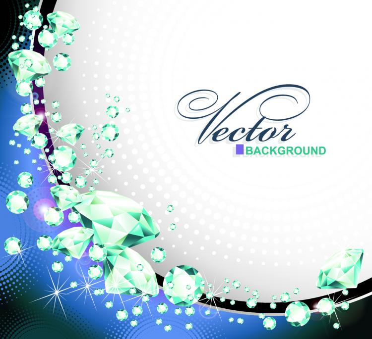 free vector Dazzling diamonds 03 vector