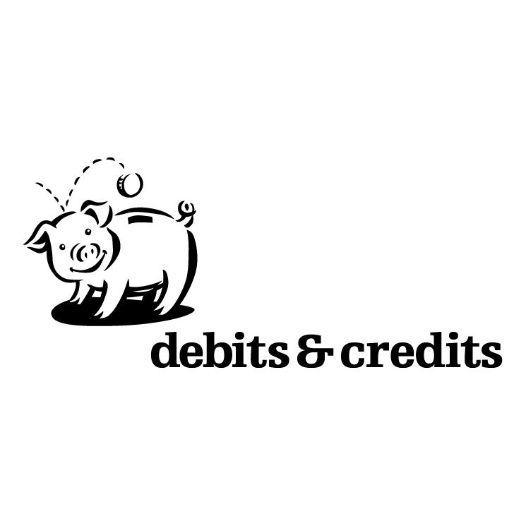 free vector Debits credits