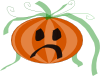 free vector Decorated Sad Pumpkin clip art