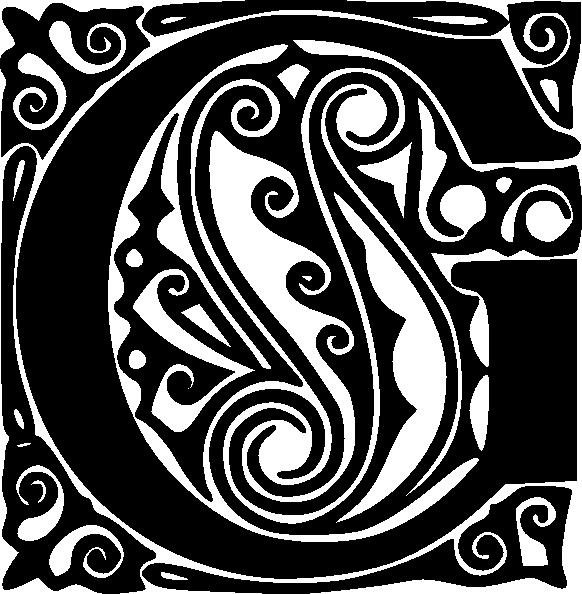 free vector Decorative Alphabet Letter G clip art