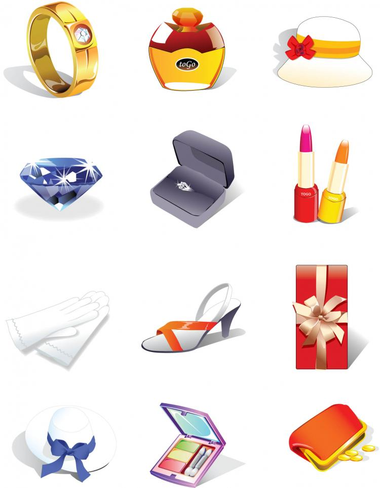 free vector Decorative icons vector
