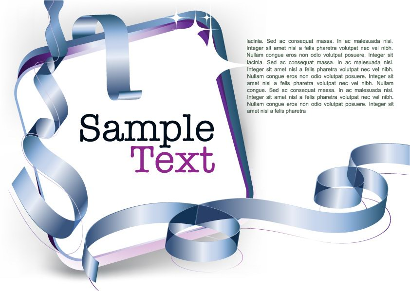 free vector Decorative ribbon design template vector 5 text