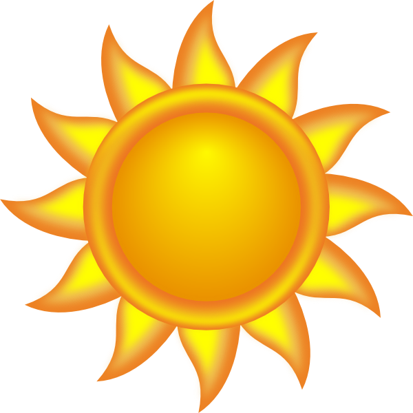 free vector Decorative Sun clip art