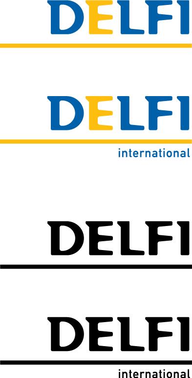 free vector Delfi International logo