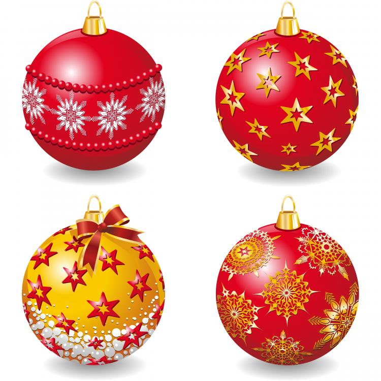 free vector Delicate christmas ball vector