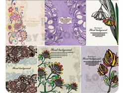 free vector Delicate flowers exquisite flower vector