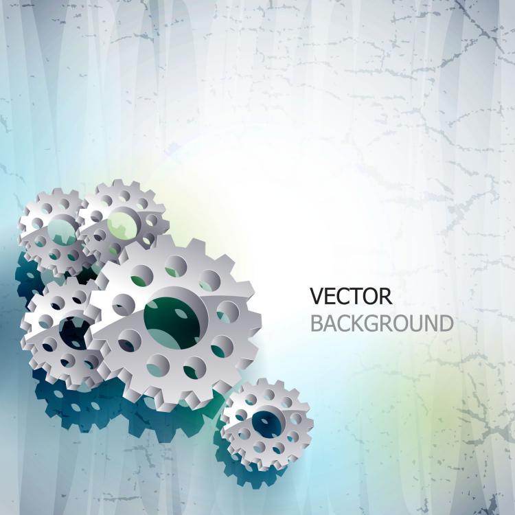free vector Delicate gear vector