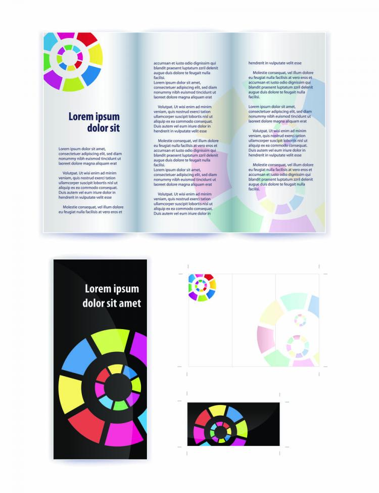 free vector Delicate leaflets and booklets 01 vector