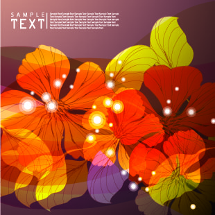 free vector Delicate nature of the leaves vector