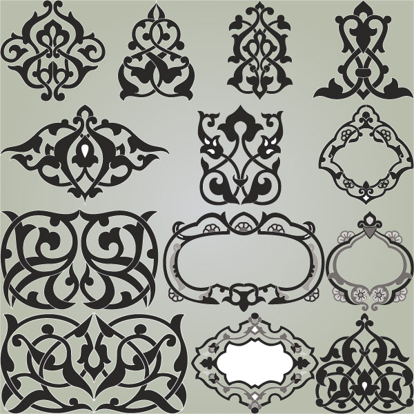 Delicate pattern corner (23200) Free EPS Download / 4 Vector