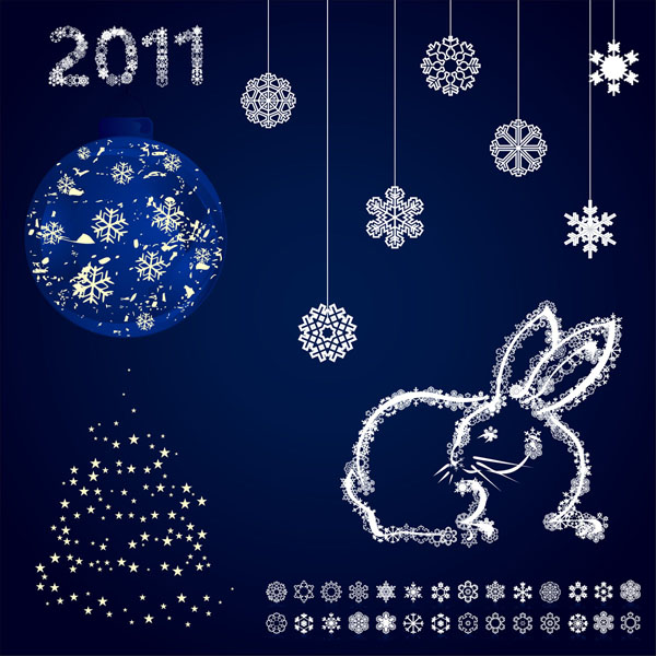 free vector Delicate snowflake christmas background vector