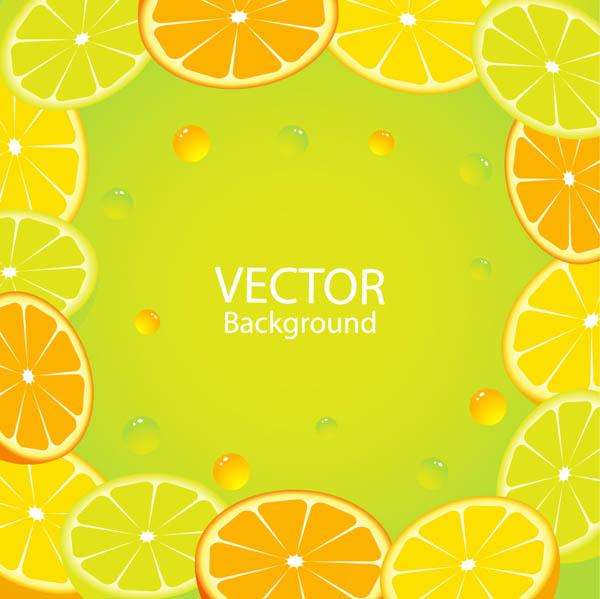 free vector Delicious orange juice elements vector