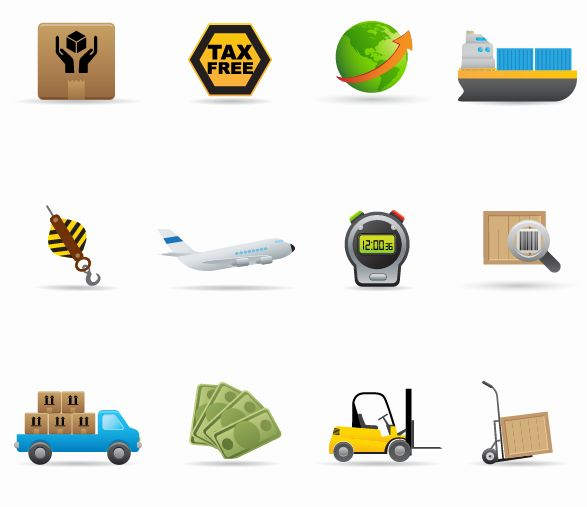 free vector Delivery Icon Vector Set