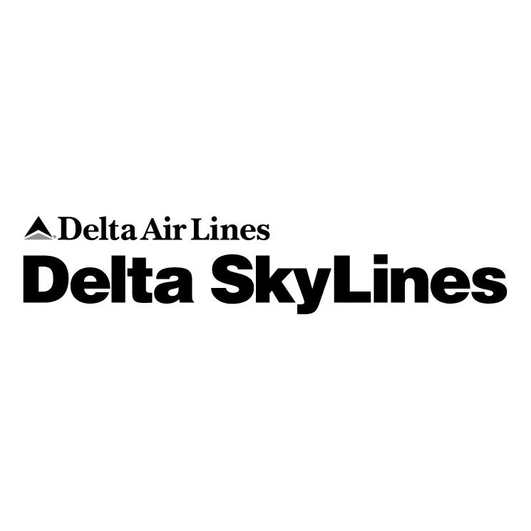 free vector Delta skylines