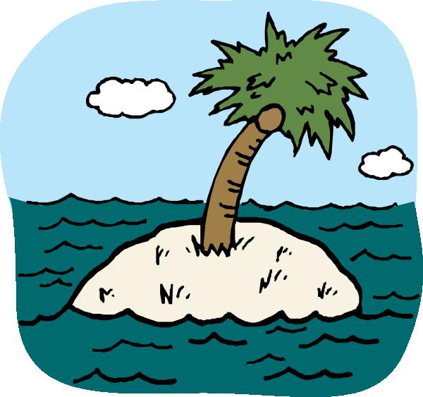 free vector Desert Isle clip art
