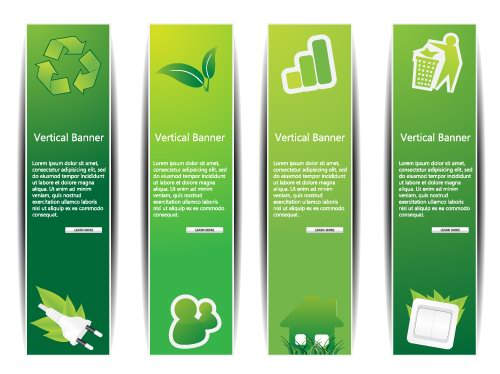 free vector Design of lowcarbon green theme vector 1
