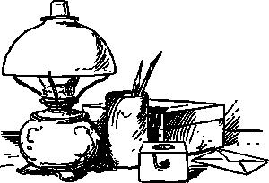 free vector Desk Scene clip art