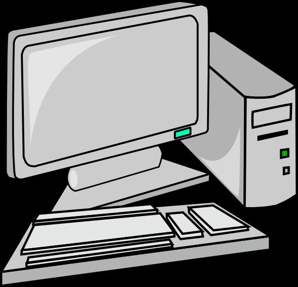 desktop pc clip art free vector 4vector rh 4vector com free clip art computer pictures free clip art computer desk