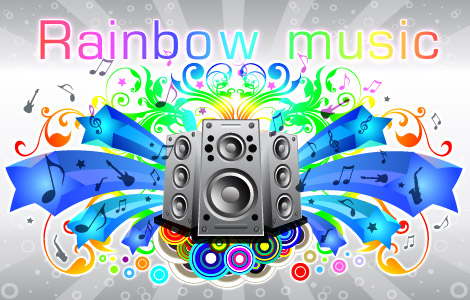 free vector Detailed Sound Free Vector Illustration with Rainbow Gradient