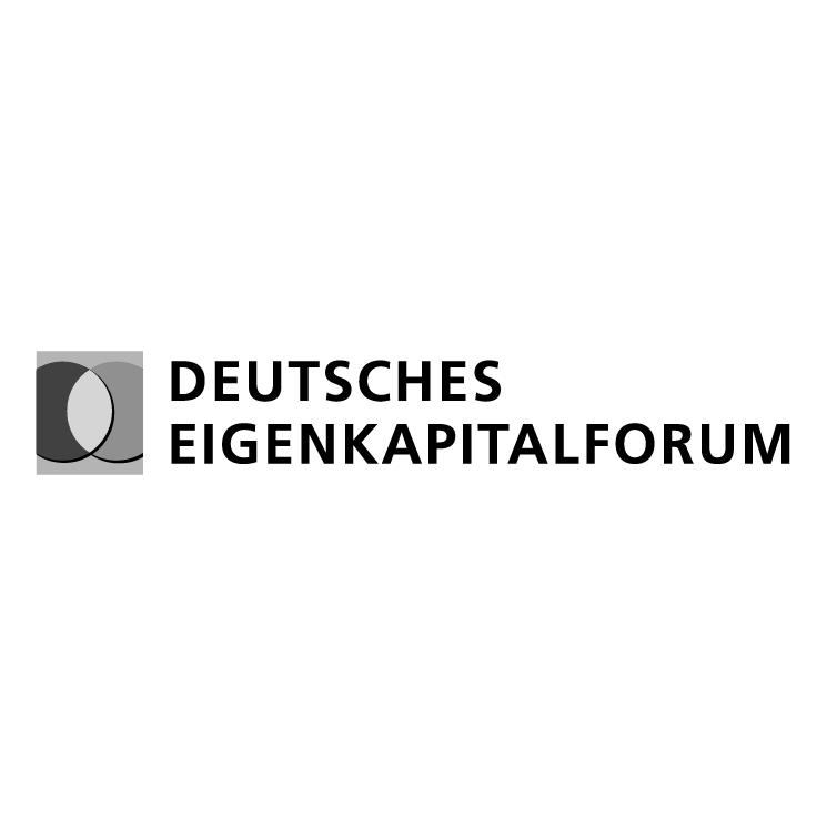 free vector Deutsches eigenkapitalforum