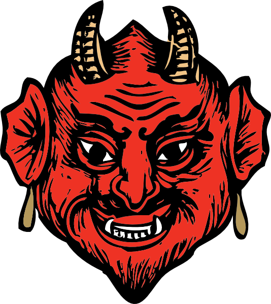 free vector Devil Head clip art