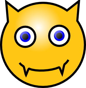 free vector Devil Smiley clip art