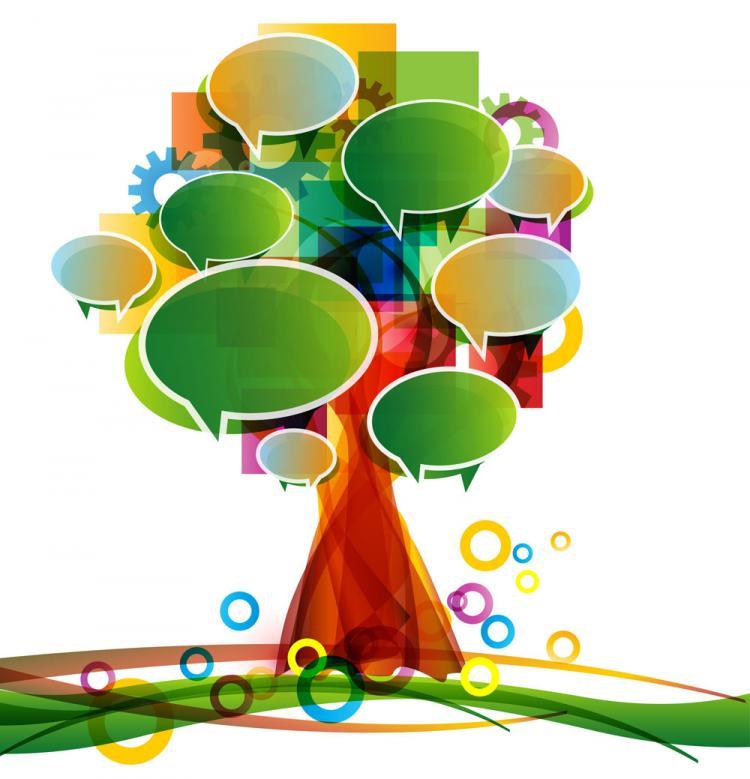 free vector Dialog box made of trees 01 vector