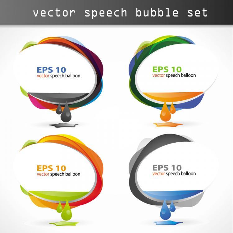 free vector Dialogue balloon dialog 04 vector