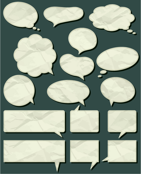 free vector Dialogue bubble paper and wood grain pattern vector material signs