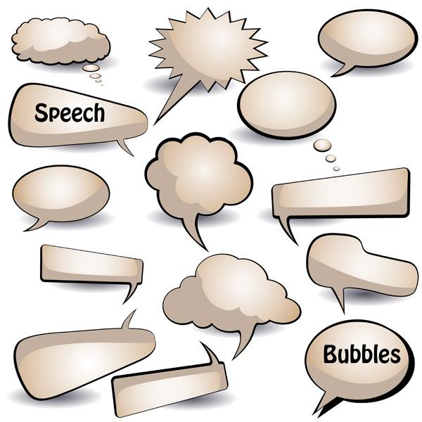 free vector Dialogue bubbles vector