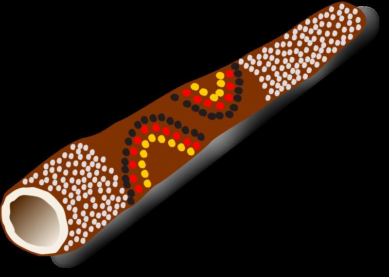 free vector Didgeridoo, Australian traditional music instrument