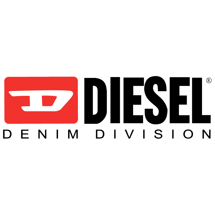 Diesel logo only the brave vector