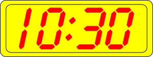 free vector Digital Clock 10:30 clip art