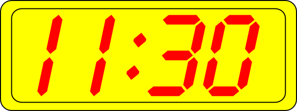 free vector Digital Clock 11:30 clip art