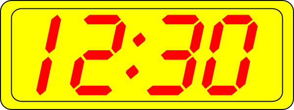 free vector Digital Clock 12:30 clip art