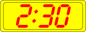 free vector Digital Clock 2:30 clip art