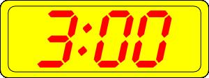 free vector Digital Clock 3:00 clip art