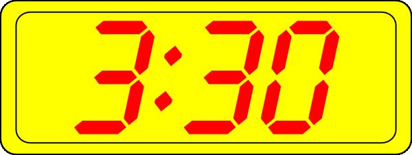 Digital Clock 3:30 clip art Free Vector / 4Vector