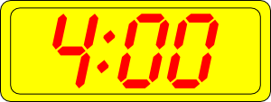 free vector Digital Clock 4:00 clip art