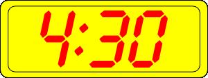 free vector Digital Clock 4:30 clip art
