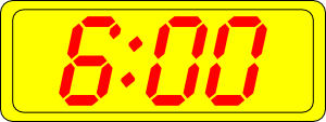 free vector Digital Clock 6:00 clip art