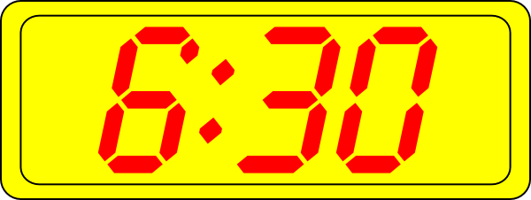 free vector Digital Clock 6:30 clip art